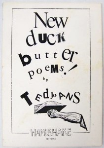 New Duck Butter Poems